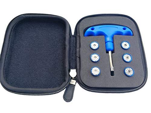 qhalen 2G 4G 6G 8G 10g 12g Gewichte + Fall + Schlüssel Werkzeug für Taylormade RocketBallz Kopfbedeckung RBZ Stage 2FW Driver Driver Fairway Holz Outdoorbereich, Blau (Rocketballz Driver Golf)