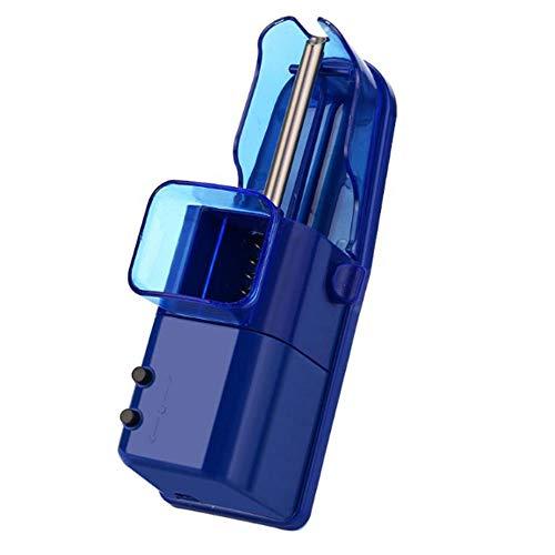 YXF-Zigarren Humidore DIY Automatische Elektrische Tabakrolle Zigarettenmaschine Injector Tabaco Acessorios Zigarettenhersteller 19,4 x 6,4 x 6 cm (Color : Blue)