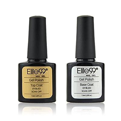 Elite99 Gel Nail Polish Soak off UV LED Nail Varnish Top Coat and Base Coat Set