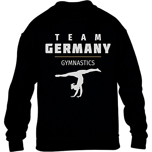 Sportgymnastik Turnen Team Germany - Rio Fanshirt Kinder Pullover Sweatshirt XL 152/164 Schwarz