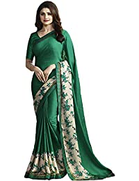 Mafiya Fashion New Dark Green Color Georgette Saree With Blouse Piece