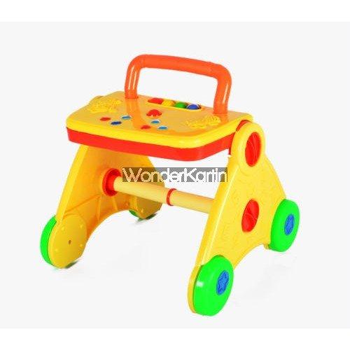 WonderKart Activity Baby Walker - Colorful & Interactive (Yellow)