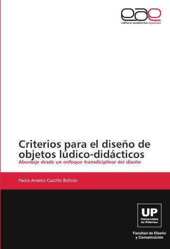 Criterios para el diseño de objetos lúdico-didácticos