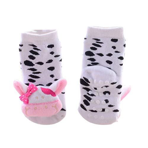 Toyvian 1 para Kinder Kleinkind Große Kleine Mädchen Mode Baumwolle Crew Socken Tier Decor Plüsch Socken Fußbodensocken für Kinder Kinder (Anzüge für Baby 1-2 Alt)