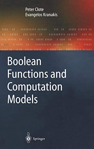 Boolean Functions and Computation Models (Texts in Theoretical Computer Science. An EATCS Series)