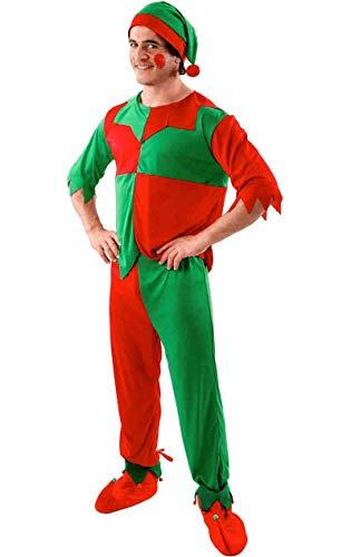 Elf Kostüm Weihnachten Anzug Erwachsener Herren Karneval Verkleidung - Elf Kostüm Für Weihnachten