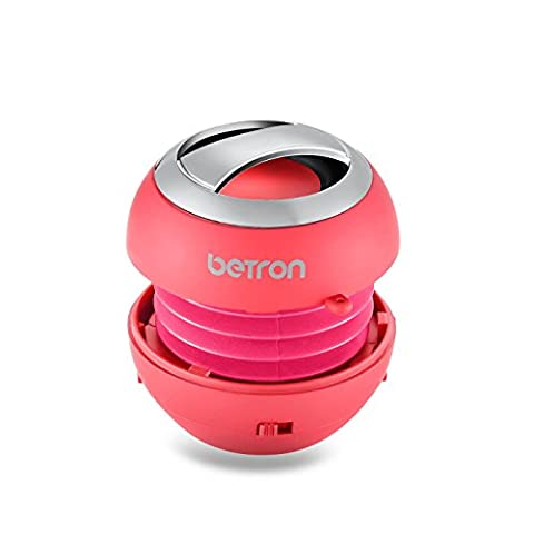 Betron BPS60 Wireless Bluetooth Speakers, Rechargeable Compact Portable Mini Travel