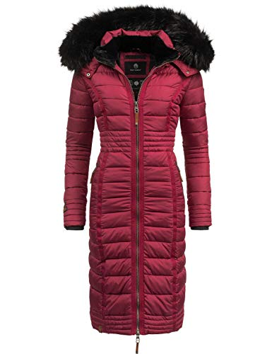 Navahoo Damen Steppmantel Wintermantel Umay Bordeaux Gr. S