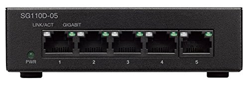CISCO 5-Port Gigabit Desktop Switch SG110D-05