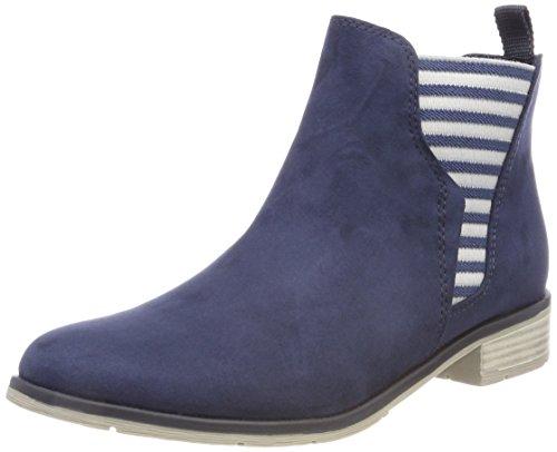 Marco Tozzi Damen 25305 Chelsea Boots, Blau (Navy), 39 EU (Canvas-boot)