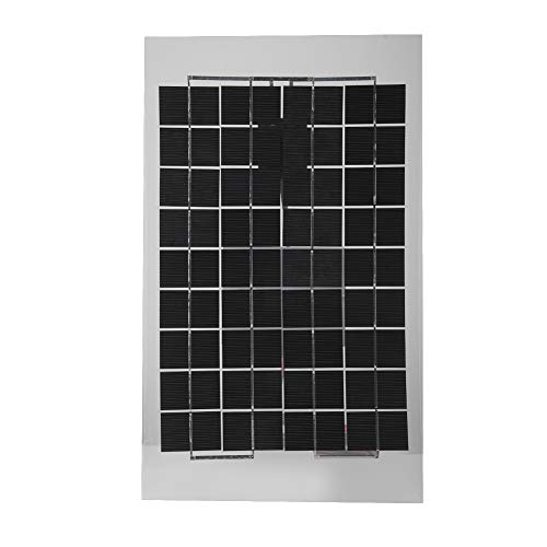 Tonysa 12 V 10 W Solarmodul,Tragbarer Solarpanel,Mini Sonnenkollektor mit transparentem Epoxidharz/kristallinem Siliziummaterial für Familienzimmer/Camping/Reisen/Wandern usw.