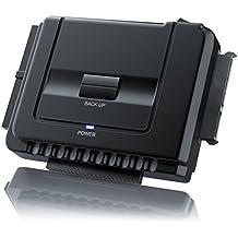 Aplic - USB 3.0 convertidor IDE / SATA con alimentación | compatibles Windows XP / Vista / 7/ 8 / Mac OS 10.X (modo OTB no es compatible)