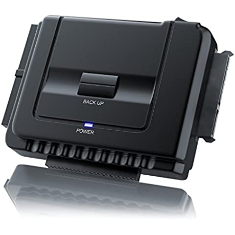 Aplic - USB 3.0 convertidor universal IDE / SATA con alimentación   compatibles Windows XP/Vista/7/8; Mac OS 10.X (modo OTB no es compatible)