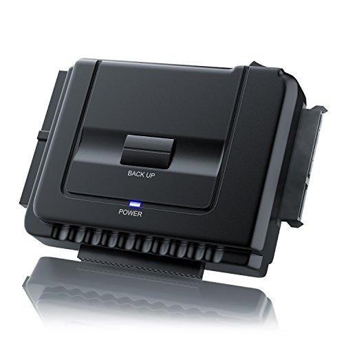 festplatten auslesegeraet CSL - IDE / SATA zu USB 3.0 Combo Dockingstation   bis zu 5 Gb/s   One Touch Backup   Dualbetrieb   Power-LED   2,5 Zoll und 3,5 Zoll SATA, HDD & IDE Laufwerke / DVD-ROM, CD-ROM, CD-RW, DVD-RW, DVD+RW Laufwerke   inkl. Klon-Funktion