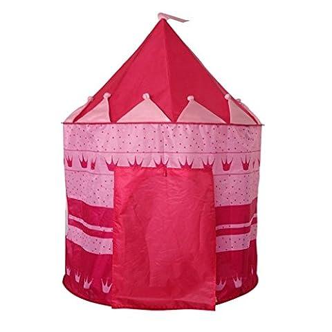 Tente de Jeu Cabane Pop-up Château de Princesse Pour Enfant à l'Intérieur ou Extérieur de Maison -