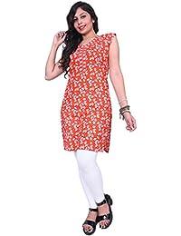 Kurtis Thari Choice Women Multi Colored Sleeveless Cotton Printed Kurtis For Women And Girls