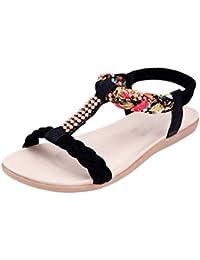 Sentaoa Damen Sommer Sandalen Böhmische Sommerschuhe Frauen Flach Mode  Outdoor Schuhe Freizeit Badeschuhe f452768efd