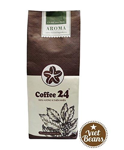 VietBeans AROMA – Vietnamesischer Kaffee – Geröstete Kaffeebohnen Ganze Bohne 250g –...
