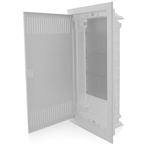 Multimedia Patch Panel (MKEUGH36 Multimediaverteiler Unterputz 3-reihig 592x346x92mm IP40 perfekt für die Ordnung der Multimediasysteme)