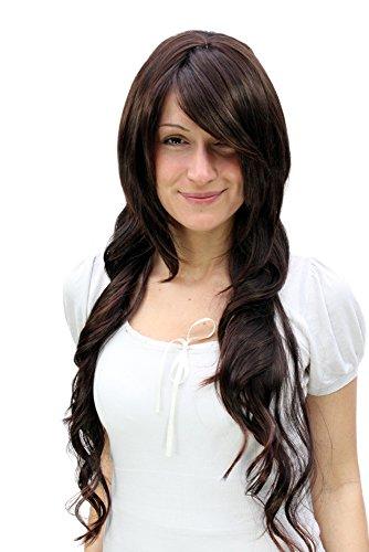 (Wig me up Damenperücke lang & wellig brünett Perücke 9379LA-2T33)