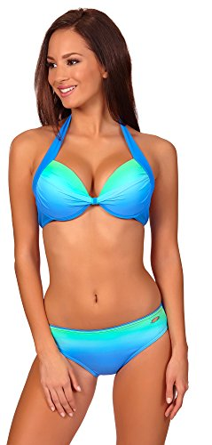 aQuarilla Bikini Barbados Blau/Grün DE 44 (IT 50)
