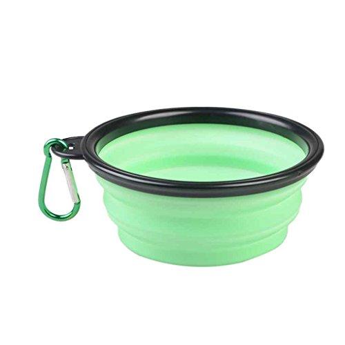 Morza Mascotas Perro Plegable portátil del Gato de Silicona Bowl por Suministros Comida del Perrito Beber Titular Agua de la Cuenca Pot