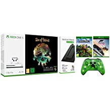 Xbox One S 1TB Console Sea of Thieves Bundle with Vertical Stand/Forza Horizon 3/Minecraft Explorers Pack/Wireless Controller Minecraft Creeper [Importación inglesa]