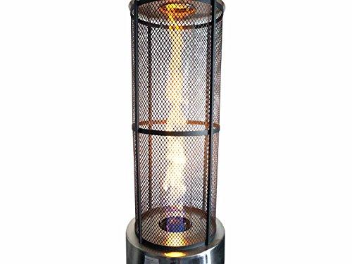 Traedgard Heizstrahler California Edelstahl mit Glasröhre, Höhe 185 cm inkl. Rollenset, Schutzhülle und Gastroset - 2