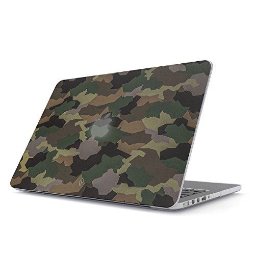 BURGA Hülle Kompatibel Für MacBook Pro 15 Zoll Aus Den Jahren 2012-2015, Modell: A1398 Retina Display Tropical Military Armee Grün Camo Camouflage Tarnung Plastik Case -