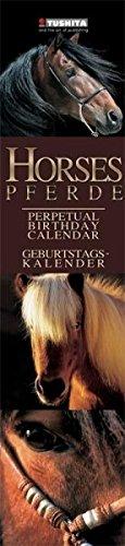 Horses Slim Line Birthday Calendar: Geburtstags-Kalender (What a Wonderful World)