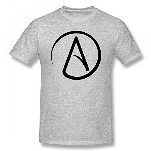 Atheist Symbol Customizable Personalized Men's T-Shirt Tee -