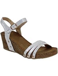 By Shoes -Sandalias alta estilo cuero para Mujer