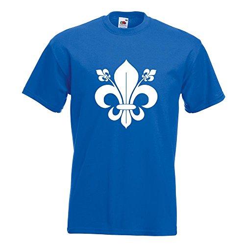 KIWISTAR - französische Lilie T-Shirt in 15 verschiedenen Farben - Herren Funshirt bedruckt Design Sprüche Spruch Motive Oberteil Baumwolle Print Größe S M L XL XXL Royal