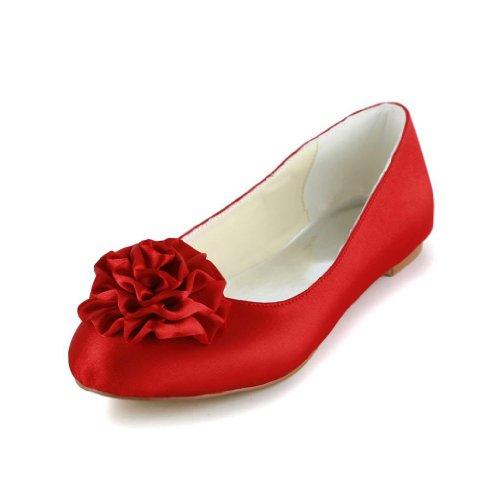 Jia Jia Wedding 5371B chaussures de mariée mariage Escarpins pour femme Rouge