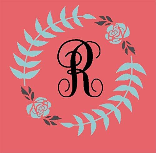 wandaufkleber spruch kind wandaufkleber schmetterling rosa Monogramm Blumenkranz für Wohnzimmer