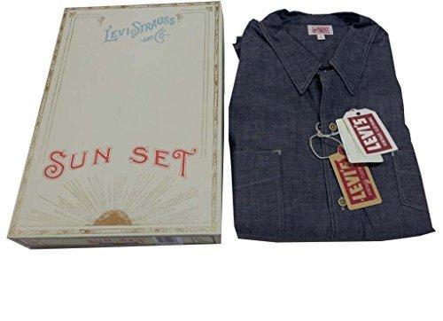 LEVI'S VINTAGE CLOTHING Herrenhemd Chambray Hergestellt in Den USA - Chambray, Medium (Levi Vintage Clothing)