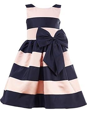 thstylee Niñas Blush Rosa Azul Marino rayas flores niña vestido niños vestidos de bebés