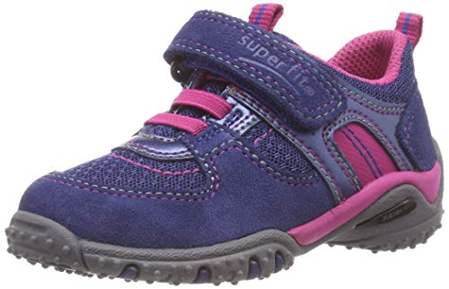 Superfit Baby Mädchen SPORT4 Mini Sneaker, Blau (Blau/Rosa 82), 24 EU