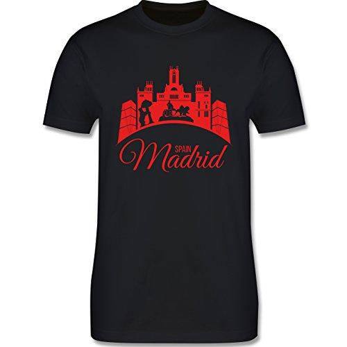 Skyline - Skyline Madrid Spain Spanien - Herren Premium T-Shirt Schwarz