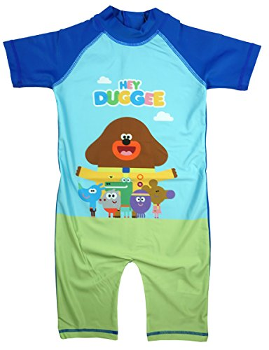 Hey Duggee Boys Official Sunsafe All In One Swim Surf Suit Costume