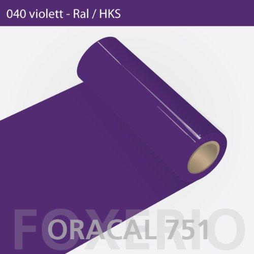 Orafol - Oracal 751 - 31cm Rolle - 5m (Laufmeter) - Violet / hochglänzend, A169oracal - 751 - 5m - 31cm - 01 - Violet - Autofolie / Möbelfolie / Küchenfolie