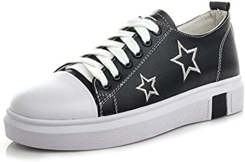 Zapatos de Mujer Primavera nuevos Zapatos de Velcro con Punta Redonda Redondeada, Pequeños Zapatos Casuales Blancos... -