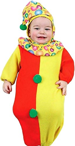 0-9 Monate - Kostüm - Verkleidung - Karneval - Halloween - Clown - Zirkus - Bunt - Unisex - Kinder Babys