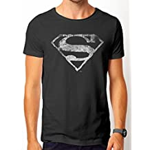 Superman Logo Mono Distressed, Camisetas para Hombre