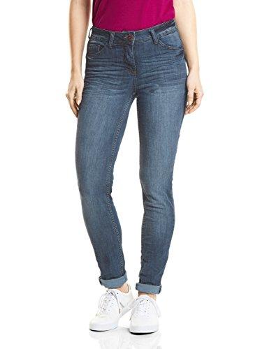 Cecil Damen 371345 Charlize Slim Jeans, Light Blue Used wash, W34/L30
