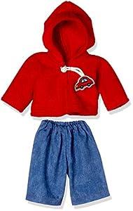 Puppenmode Sturm 2786-2 - Sudadera con Capucha y pantalón Vaquero para muñecas, Color Rojo
