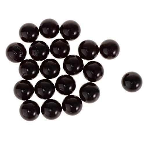 Homyl 20x 16mm Juguete de Bolas Cristales Colorido Juego de Niños Ornamento de Florero Pecera - Negro