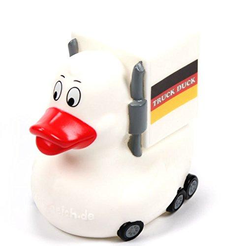 TRUCK DUCK® Original Truck Duck Figur Trucker LKW Auto Fahrer Ente mit Deutschland Germany Flagge Fahne Wimpel