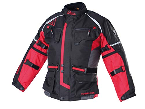 Modeka Textil Jacke Tourex Kids 152 Schwarz/Rot