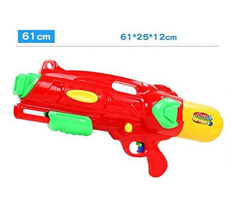 HJXJXJX Plastik Material Strand Druck Wasser Pistole Spielzeug Kinder spielen Wasser zu spielen Gaspistolen , red (Spielzeug Elektronische Maschine Gun)